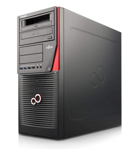 Fujitsu Celsius M740 Workstation Intel Xeon Quad Core E5 v3 400GB SSD 16GB Windows 10