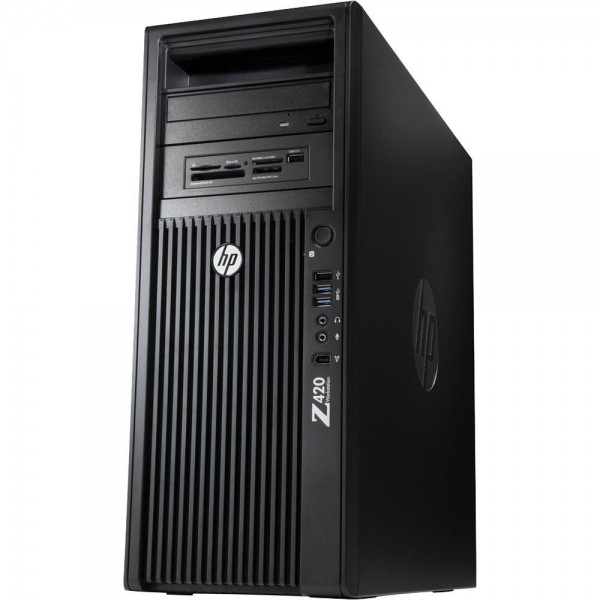 HP Z420 Workstation Intel Xeon Quad Core E5 256GB SSD + 500GB HDD 32GB Speicher Win 10 Pro