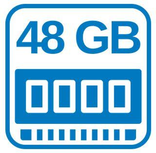 Großer Arbeitsspeicher 48 GB