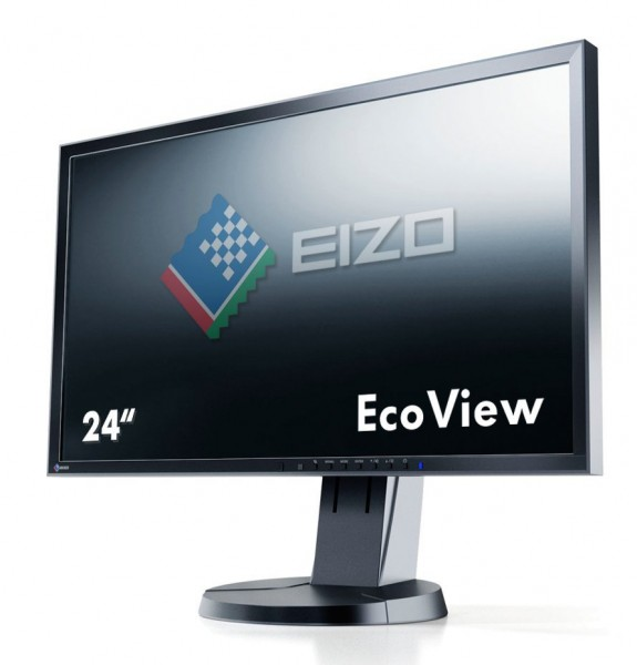 Eizo FlexScan EV2416WFS3 LED schwarz 24 Zoll Full-HD 1920x1200 DisplayPort VGA DVI