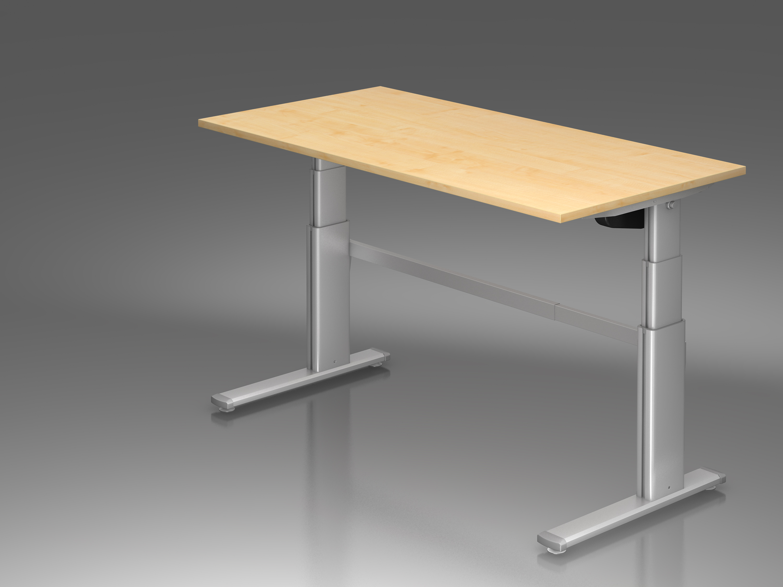 schreibtisch h henverstellbarer arbeitsplatz ergonomic. Black Bedroom Furniture Sets. Home Design Ideas