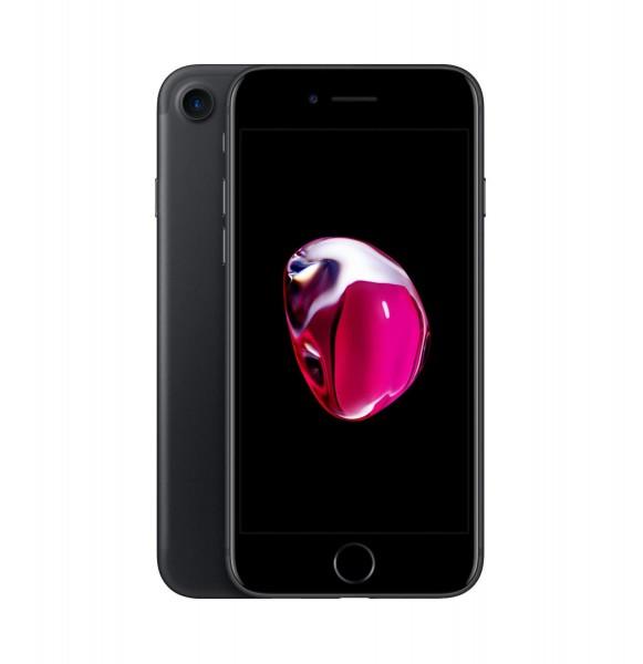 Apple iPhone 7 Smartphone Handy 4,7 Zoll 128GB Speicher Schwarz iOS 11 A1778 - ohne Simlock
