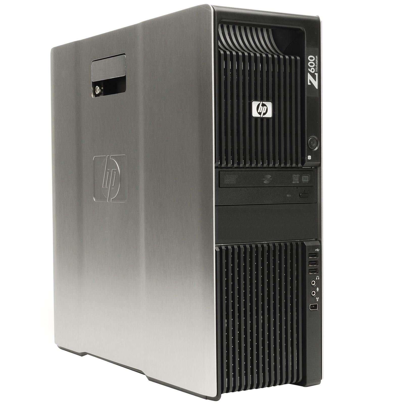 HP Z600 Workstation 2x Intel Xeon X5650 2x 500GB Sata 24GB Speicher Win 10 Pro