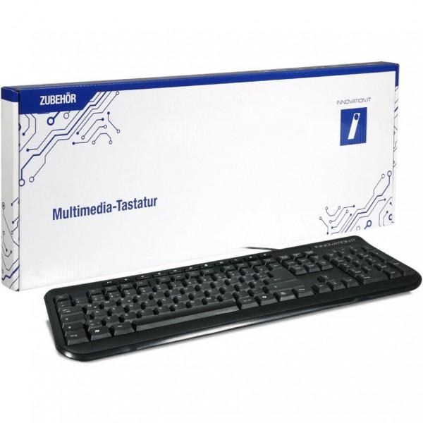 Innovation IT Tastatur KEY-613M USB schwarz
