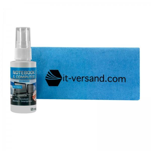 Reiniger Spray & Mikrofaser Tuch it-versand•com