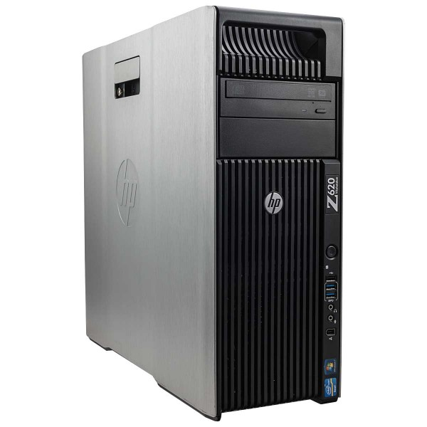HP Z620 Workstation Intel Xeon Quad Core E5 v2 500GB Sata 16GB Speicher Win 10 Pro