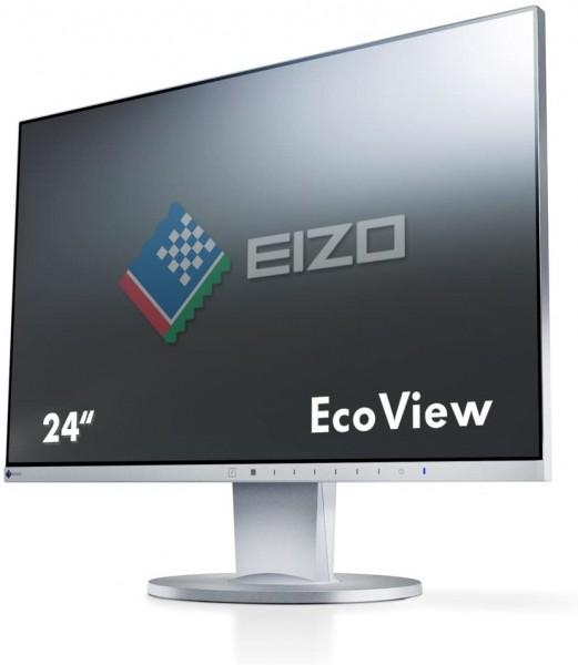 Eizo FlexScan EV2450 LED grau 24 Zoll Full HD 1920x1080 HDMI DisplayPort VGA DVI Höhenverstellbar EV2450-GY