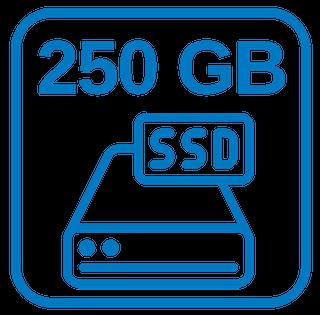 Schnelle Festplatte 250 GB SSD