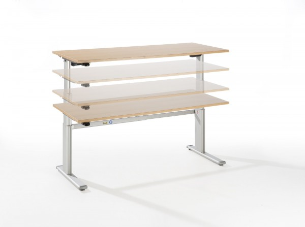 Schreibtisch Höhenverstellbarer Arbeitsplatz Ergonomic High Quality zweimotorig 60-130 cm