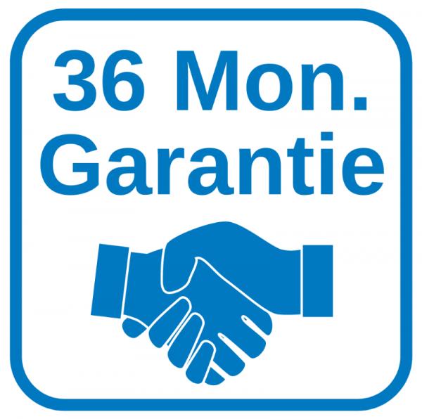 36 Monate Garantie - Garantieverlängerung