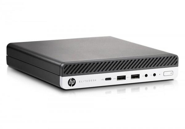HP EliteDesk 800 G3 Desktop Mini USDT Intel Quad Core i5 256GB SSD 8GB Windows 10 Pro W-Lan