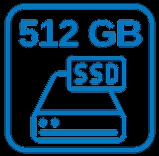 Große Schnelle Festplatte 512 GB SSD + 1 TB HDD